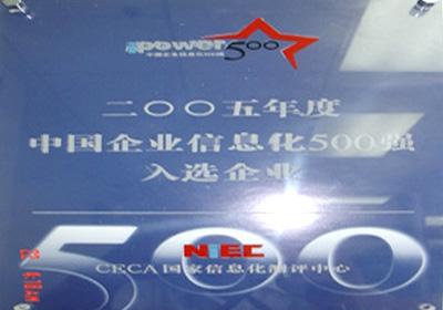 2005年度中国企业信息化500强